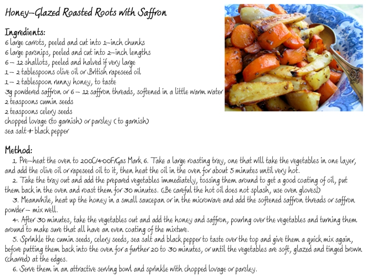 Honey Glazed Roasted Root Veg Recipe Card