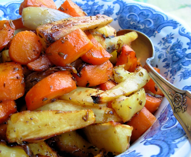 Saffron and Fennel Roasted Roots - Recipe Photo