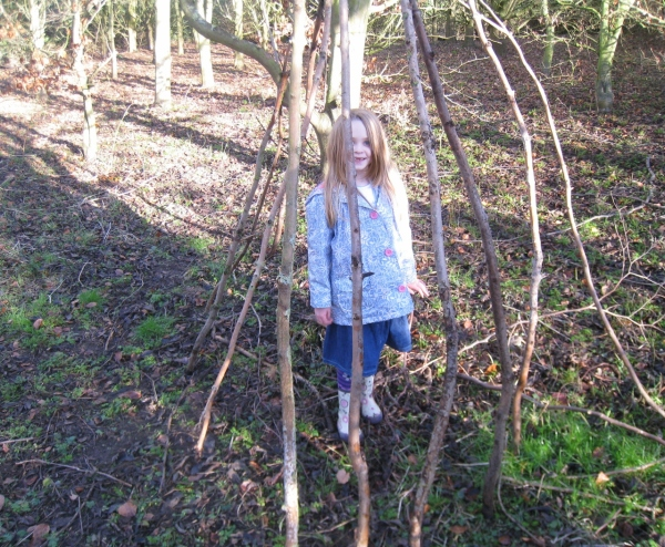 Making a Den on a Walk
