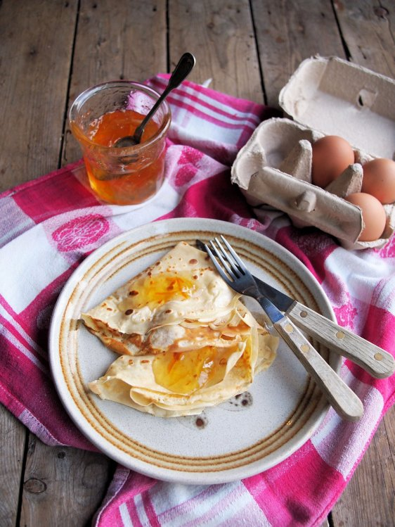 Pancakes with Marmalade