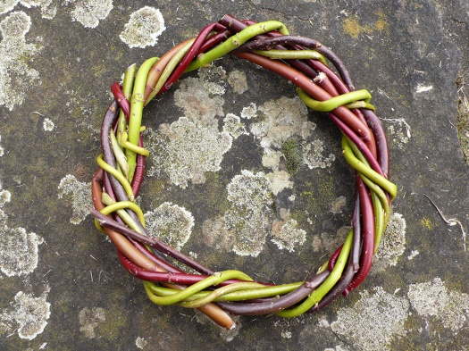 Willow, apple, cornus wreath