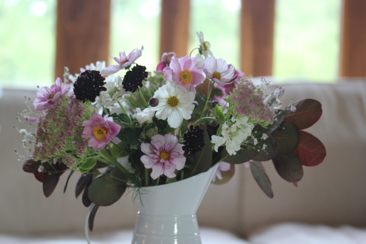 Homegrown flower arrangement by Belinda at Garlic & Sapphire