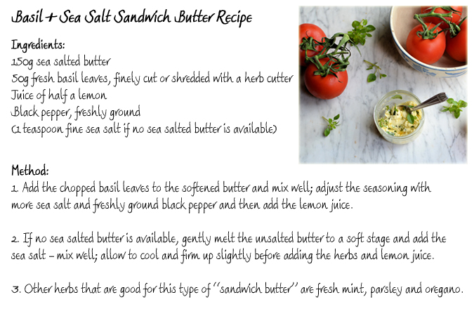 Basil and Sea Salt Sandwich Butter Recipe Card