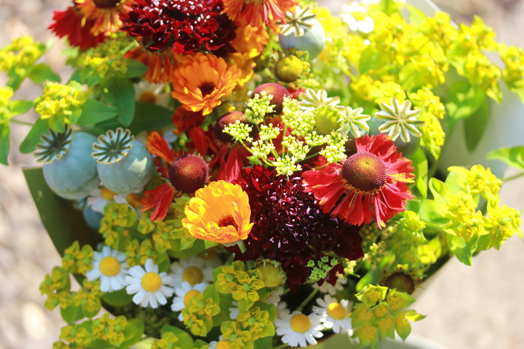Yellow and orange flower arrangement