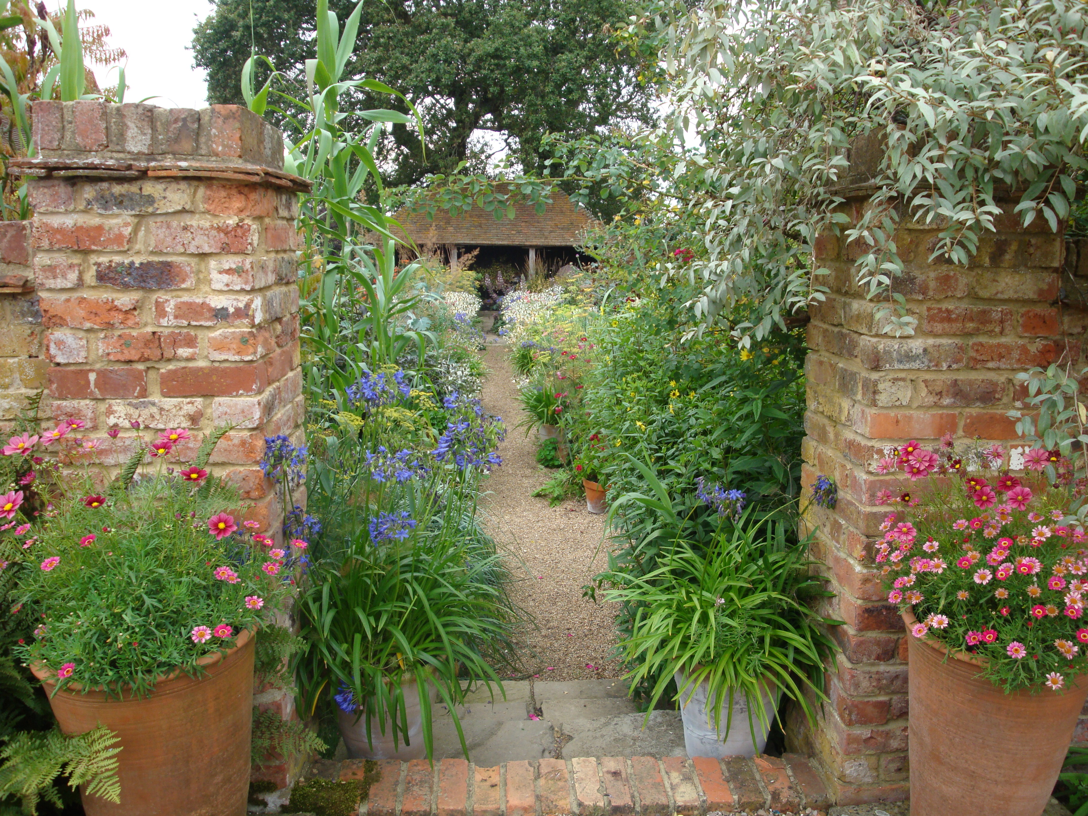 The entrance to the Oast Garden
