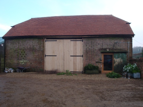 The newly converted barn at Perch Hill