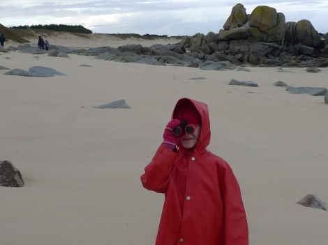 Walk on Breton Beach at New Year's