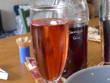 Homemade Damson Gin & Fizz