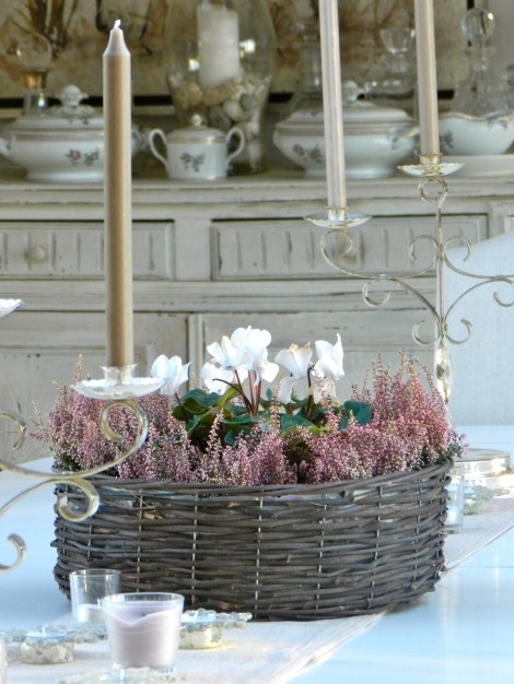 Heathers and White Cyclamen
